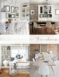 Mixed Dining Room Chairs by Mixing Modern Chairs W Farmhouse Dining Tables