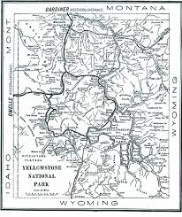 Yellowstone Lodging Map Yellowstone In 1904