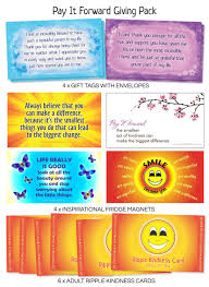 quotes about education and kindness pay it forward giving pack fridge magnets gift tags