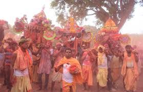 dola jatra the festival of colours in odisha photo today