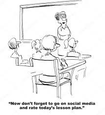 rate teacher u0027s lesson plan on social media u2014 stock photo