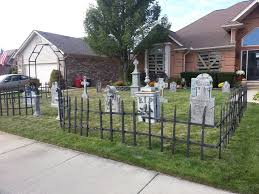 how to make tombstones for halloween decorations cemetery fences and gates thread my cemetery with just fence