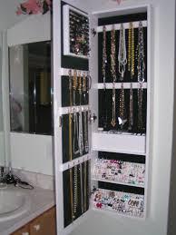 Wall Mirror Jewelry Storage Hanging Jewelry Armoire Roselawnlutheran