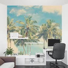 vintage summer palms wall mural