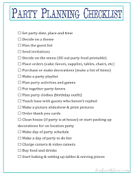 printable party planner checklist free party planning printables leah with love
