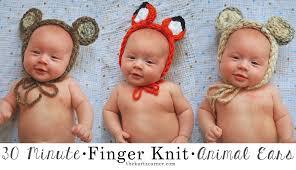 the kurtz corner finger knitting animal ears in 30 minutes