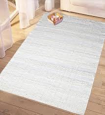 buy white cotton 60 x 36 inch decorative soft handloom made chindi