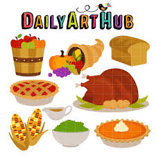 thanksgiving feast clip set daily hub free clip