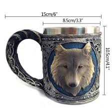 creativity classic 450ml 3d cool wolf drinking coffee mugs mugs