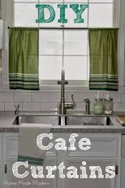 Kitchen Cafe Curtains Cafe Curtains From Kitchen Towels Home Made Modern