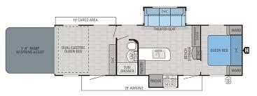 Winnebago Fifth Wheel Floor Plans 2016 Octane Toy Hauler Floorplans U0026 Prices Jayco Inc