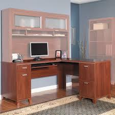 Bush Cabot L Shaped Desk Bush L Shaped Desk With Hutch