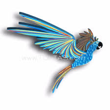 blue cockatiel parrot flying bird mobile unique handmade gift