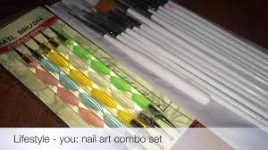 lifestyle you nail art brush set from amazon review celebration