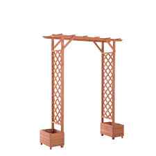sunjoy trellis arch 82 in x 23 in wood arbor 110305002 the
