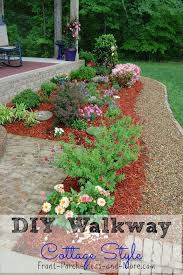 Pea Gravel Front Yard - diy walkway idea pea gravel for a cottage style home