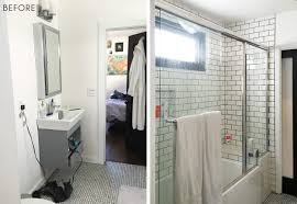 Mix Mid Century Modern With Traditional Modern Traditional Bathroom Refresh Emily Henderson