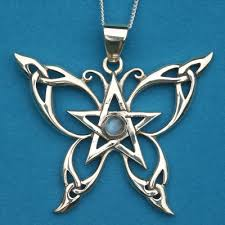 silver celtic butterfly pendant at gryphon s moon