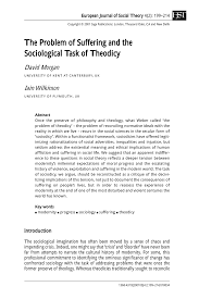 Peter Berger The Sacred Canopy by The Problem Of Suffering And The Sociological Task Of Theodicy