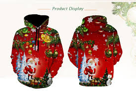 red santa christmas tree jingle bells christmas hoodie m 21 99
