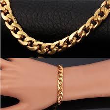 bracelet gold man stainless steel images Buy 2018 trendy gold filled bracelet for men jpg