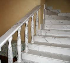 marble stairs white marble staircase railing stairs and kitchen design