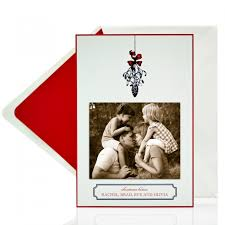 mistletoe couture christmas card bellinvito stationers