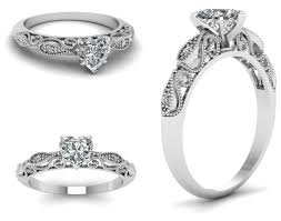 filigree engagement rings engagement heart shaped diamond rings features a prong set center