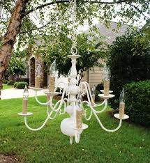 Shabby Chic Lighting Chandelier by 16 Best Diy Outdoor Chandeliers Images On Pinterest Outdoor