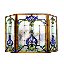 amazon com chloe lighting tiffany glass 3pcs folding victorian