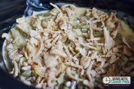 crockpot green bean casserole moms with crockpots
