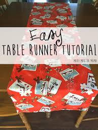 easy table runner tutorial u2013 mary martha