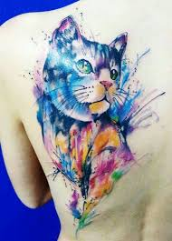 15 best creative cat tattoos images on pinterest watercolors