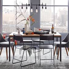Wood And Metal Dining Chairs Box Frame Dining Table Wood West Elm