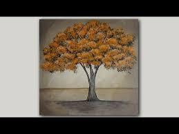 acrylic painting autumn maple tree