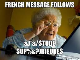 french message follows tude sup rieures internet grandma