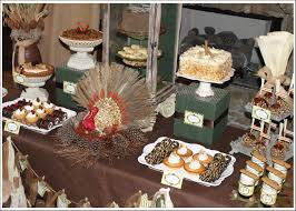 alluring buffet table with tart cake combined brown table cloth