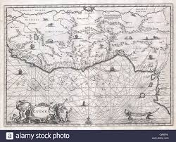 Map West Africa by 1670 Ogilby Map Of West Africa Gold Coast Slave Coast Ivory