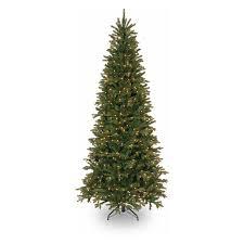 Downswept Slim Christmas Tree by National Tree Pre Lit 9 U0027 Feel Real Tiffany Fir Slim Hinged