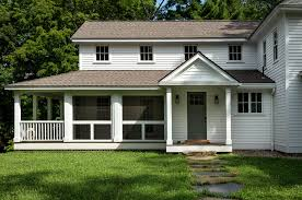 screened in porch plans exterior farmhouse with back entry brick
