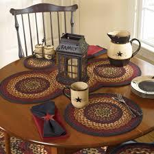 country kitchen table folk art braided table runner