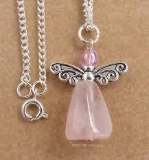 handmade angel necklace images Handmade rose quartz crystal angel pendant necklace angelic ariel jpg