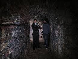 ghost adventures zak and aaron in the basement of the plaza hotel