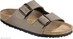 birkenstock arizona synthetic nubuck strap narrow fit sandals