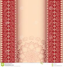 Invitation Card Border Design Asian Henna Elephants Burgundy And Cream Border Design With Space