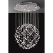 Crystal Sphere Chandelier Sparkling Floating Crystal Ball Pendant Chandelier 3 Sizes