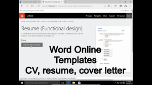 online resume cover letter word online 1 templates how to write cv resume cover letter word online 1 templates how to write cv resume cover letter youtube