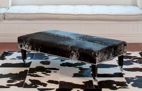 Who Are Ottomans Grey Speckle Cowhide Ottoman From Gorgeous Creatures With