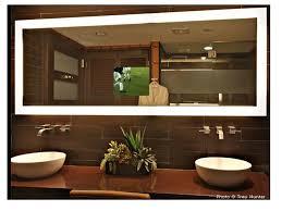 tv in a mirror bathroom lighted bathroom wall mirror bathroom cintascorner lighted