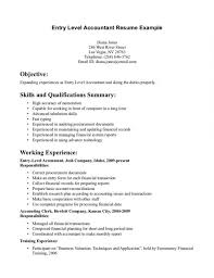 entry level accounting resume examples accounting assistant